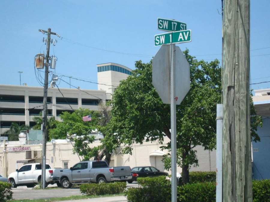 Located at corner of SW 1 Avenue and SW 17 St.