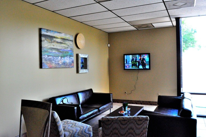 Customer lounge with WiFi for busy customers.