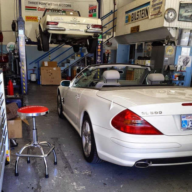 Mercedes benz repair by three points star motors in for Mercedes benz repair shops