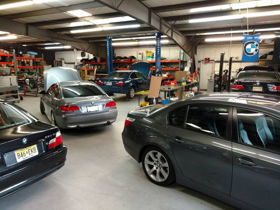 Shop full of BMW's!