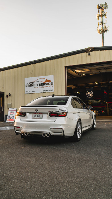 F80 M3 which received Turbos, crank hub and more!