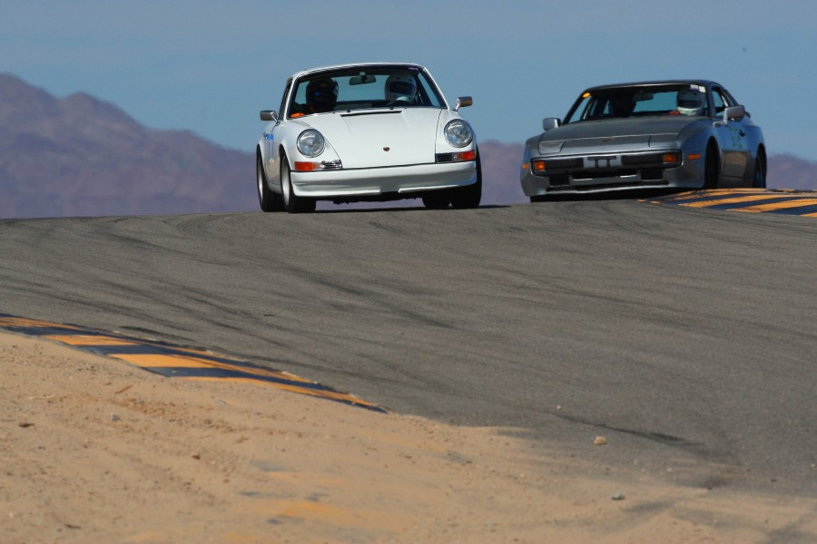 A TLG client hustling his 1970 911 at the racetrack