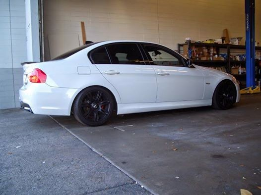 We lower vehicles such as this BMW 328i.