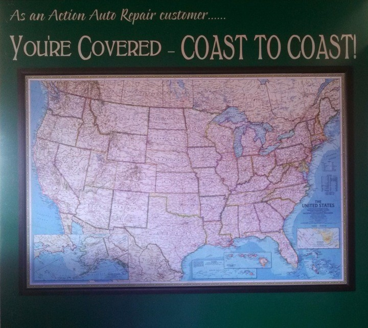 You're covered Coast to Coast with our 36 Month/36,000 Mile Warranty