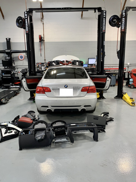 BMW Dashboard removal for Evaporator