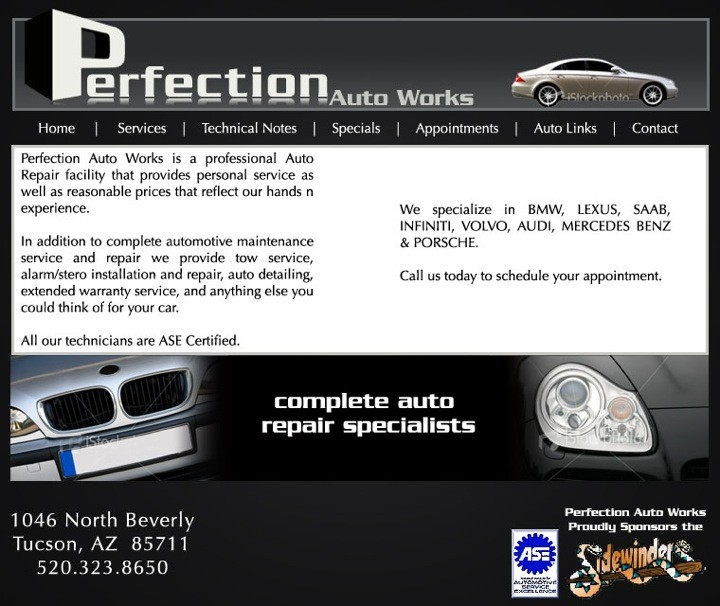 Saab Repair By Perfection Auto Works In Tucson, AZ