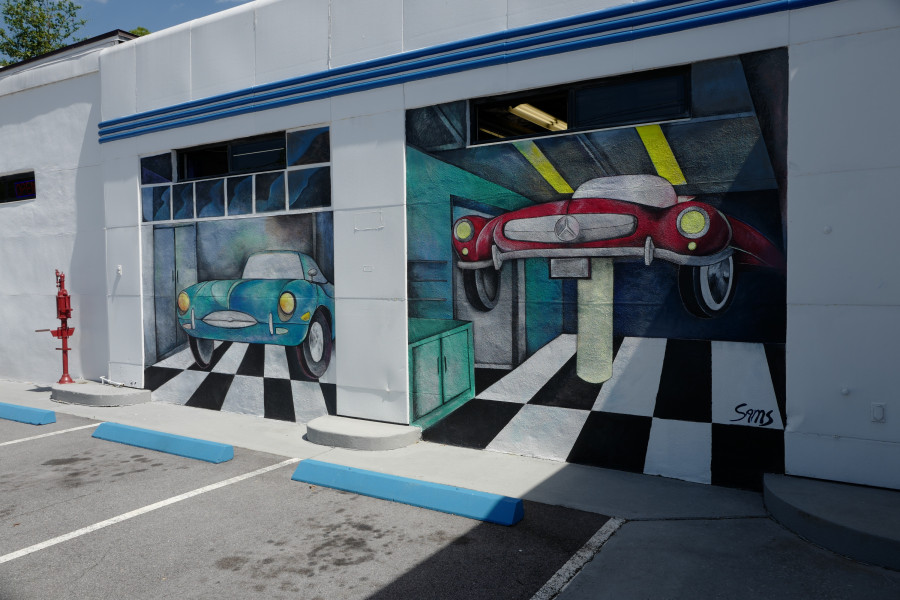 Garage Door Mural at Import Specialties of Columbia