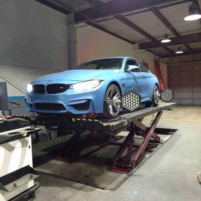 We are the only Independent BMW shop in Houston to have an original BMW KDS alignment machine