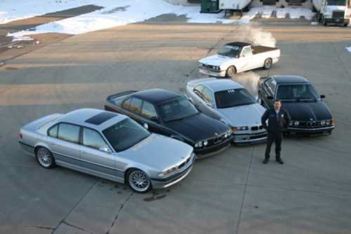 A selection of customer's cars.