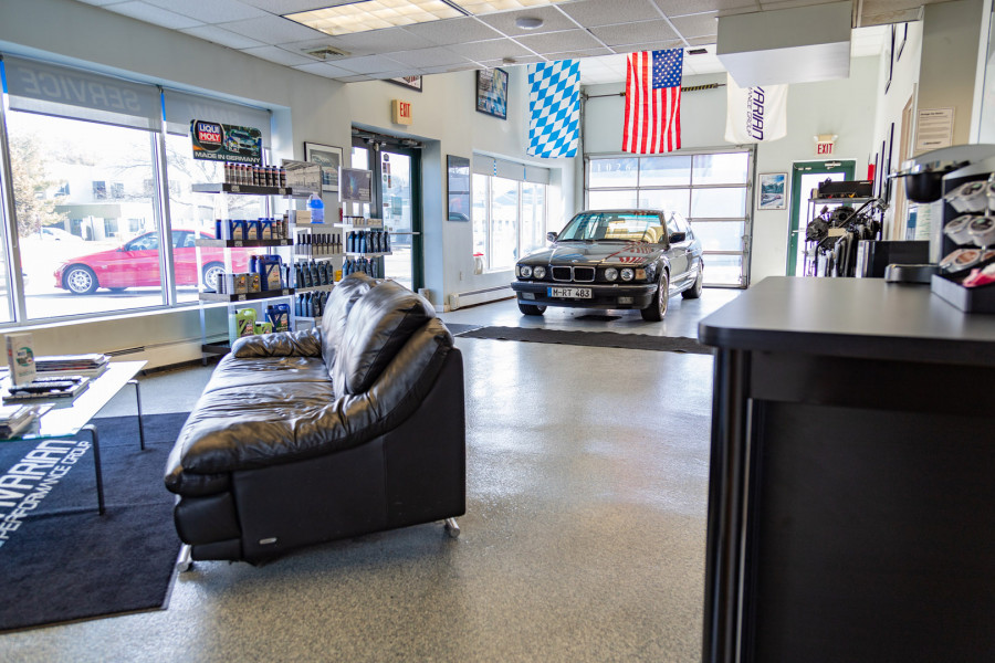 Wait comfortably while we take care of your BMW!