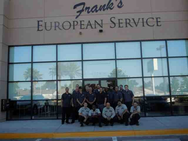 Frank's European Service Team Photo