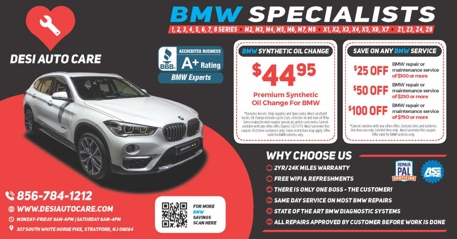 BMW Repair by Desi Auto Care in Stratford, NJ | BimmerShops