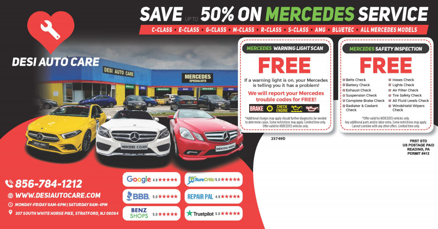 Mercedes-Benz Repair by Desi Auto Care in Stratford, NJ