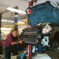 Derek Christopherson, ASE Master Technician at Autoworks in Kittery, ME