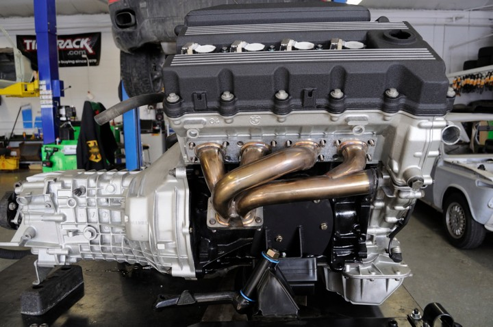 BMW M42 engine, detailed and ready to be installed in a '68 1600