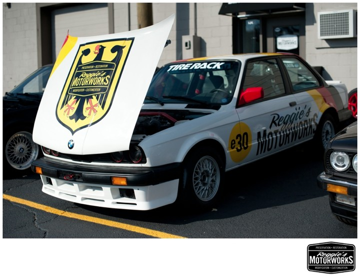 e30 BMW Track car, prepared by Reggie's Motorworks