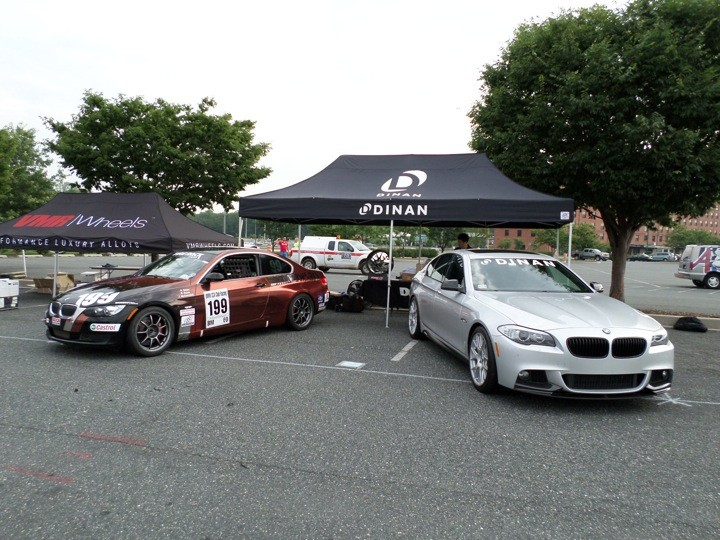 BImmerworks 335ci race car at BimmerFest 2013 with Dinan