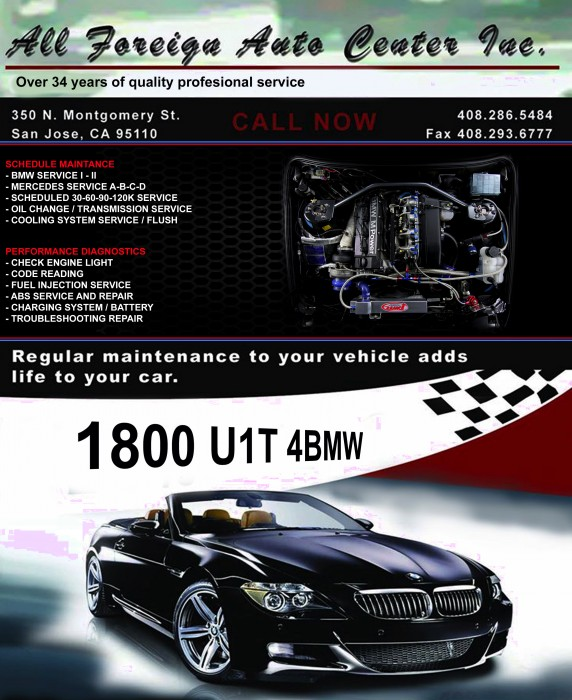 BMW Repair By All Foreign Auto Center Inc In San Jose, CA