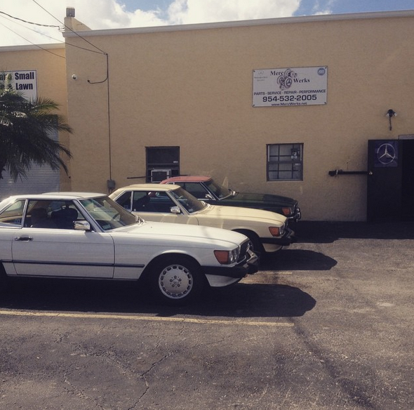 Mercedes benz repair by merc werks in pompano beach fl for Mercedes benz of pompano beach